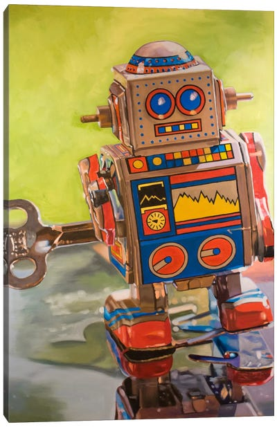 Mini Robot Canvas Art Print