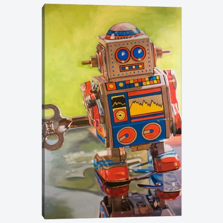 Mini Robot Canvas Print #AAL13} by Andrea Alvin Canvas Print