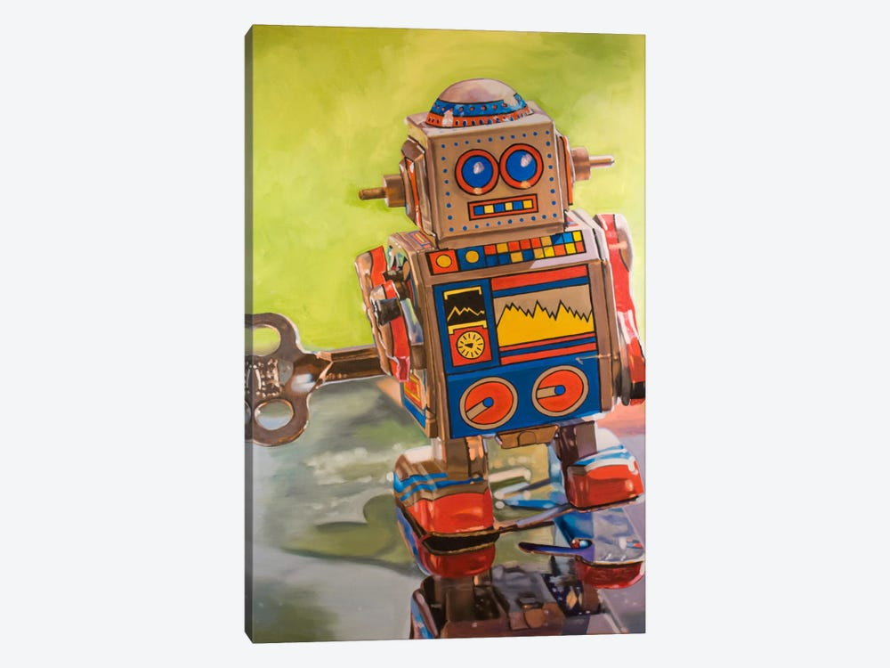 Mini Robot by Andrea Alvin 1-piece Canvas Art