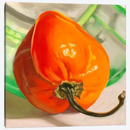Orange Habanero Canvas Print #AAL16} by Andrea Alvin Canvas Art