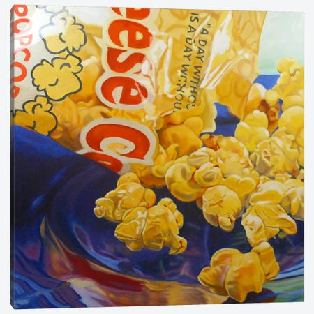 Popcorn Man Canvas Print #AAL19} by Andrea Alvin Art Print