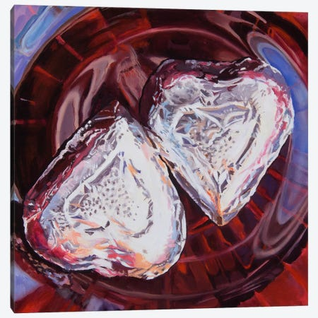 Sweethearts Canvas Print #AAL24} by Andrea Alvin Art Print