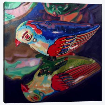 Tin Bird Canvas Print #AAL26} by Andrea Alvin Canvas Art Print
