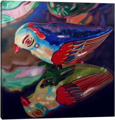 Tin Bird Canvas Art Print