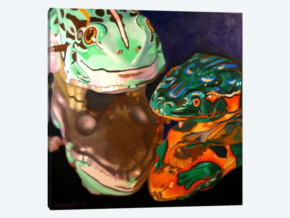 Tin Frogs by Andrea Alvin 1-piece Canvas Art Print