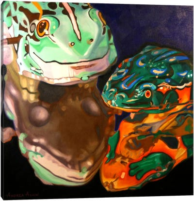 Tin Frogs Canvas Art Print