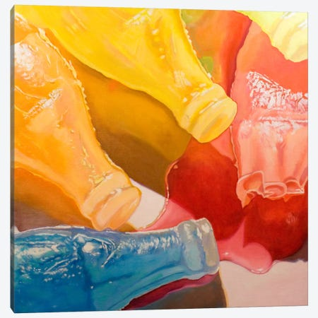 Wax Bottles Canvas Print #AAL29} by Andrea Alvin Canvas Art