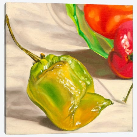 Yellow Habanero Canvas Print #AAL31} by Andrea Alvin Art Print
