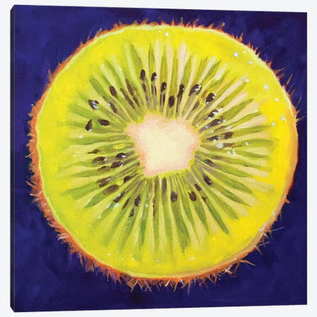 Kiwi Canvas Print #AAL40} by Andrea Alvin Canvas Art