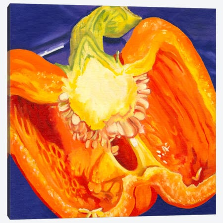 Cut Pepper Canvas Print #AAL4} by Andrea Alvin Canvas Art