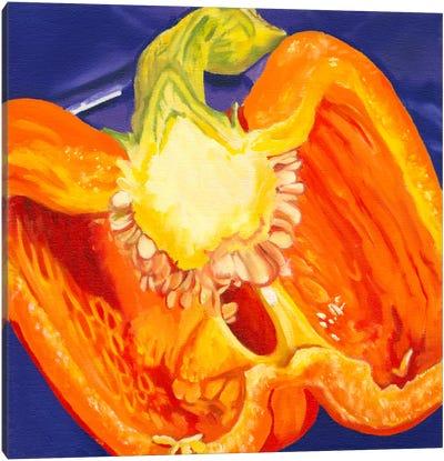 Cut Pepper Canvas Art Print