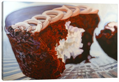 Chocolate Cupcake Delight Canvas Art Print