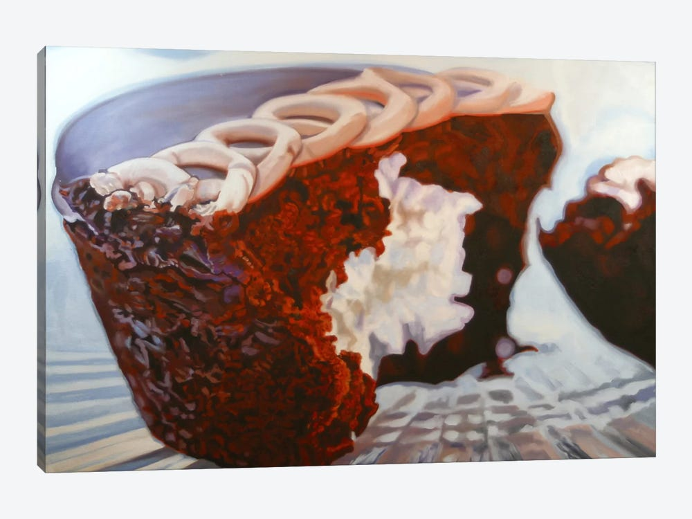 Chocolate Cupcake Delight by Andrea Alvin 1-piece Canvas Art