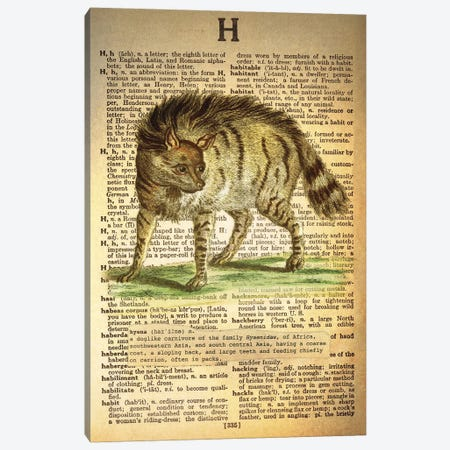 H - Hyena Canvas Print #AALP16} by 5by5collective Canvas Wall Art