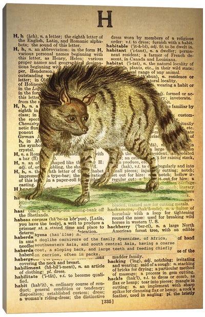 H - Hyena Canvas Art Print