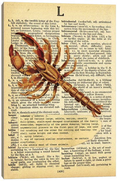 L - Lobster Canvas Art Print