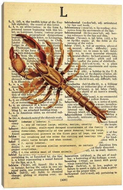 L - Lobster Canvas Art Print