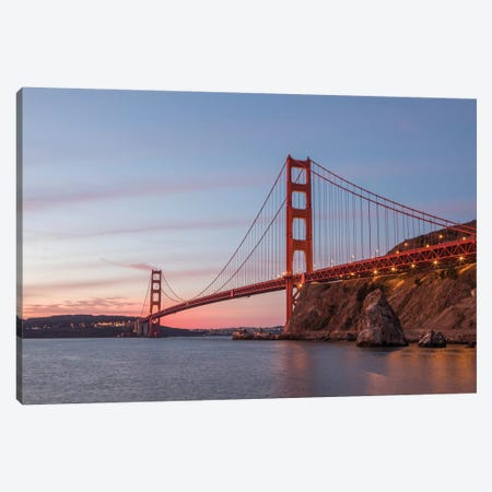 Golden Gate Span Canvas Print #AAM2} by Aaron Matheson Canvas Wall Art