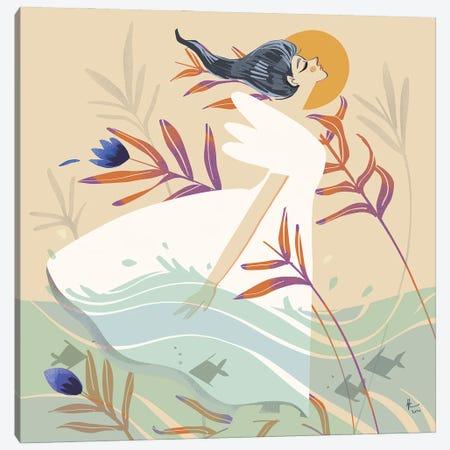 The Calming Breeze Canvas Print #AAN1} by Annada N. Menon Canvas Art Print