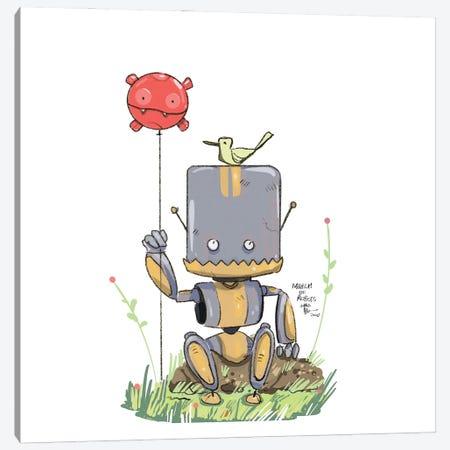 Robot XI Canvas Print #AAN20} by Annada N. Menon Canvas Wall Art
