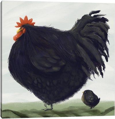 Chonky Orpington Chicken Canvas Art Print