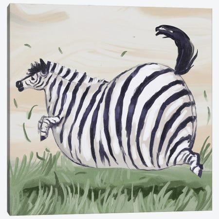Chonky Zebra Canvas Print #AAN34} by Annada N. Menon Canvas Art