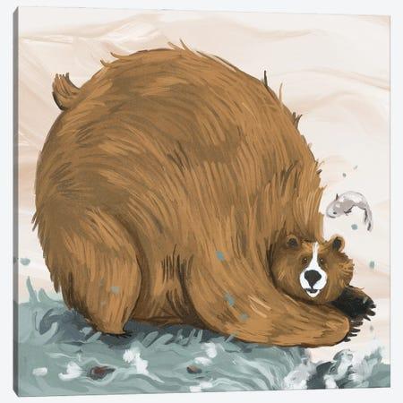Chonky bear Canvas Print #AAN38} by Annada N. Menon Canvas Art Print
