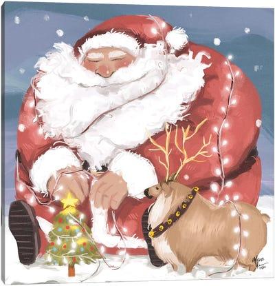 Chonky Christmas Canvas Art Print