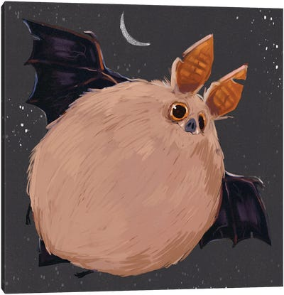 Chonky Bat Canvas Art Print