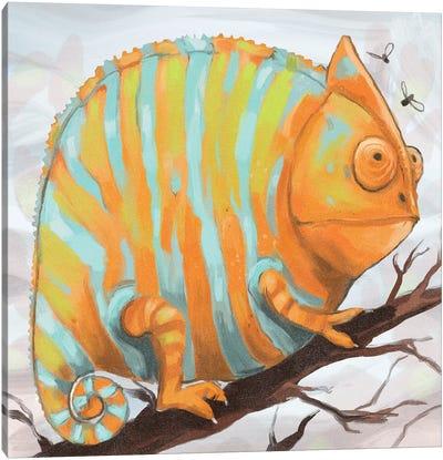 Chonky Chameleon Canvas Art Print