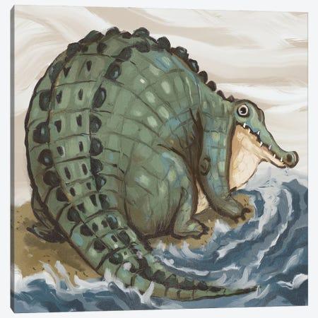 Chonky Crocodile Canvas Print #AAN43} by Annada N. Menon Canvas Artwork