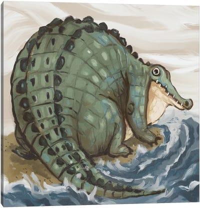 Chonky Crocodile Canvas Art Print