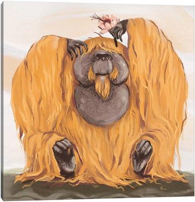 Chonky Orangutan Canvas Art Print