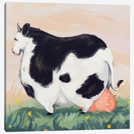 Chonky Cow Canvas Print #AAN45} by Annada N. Menon Canvas Print