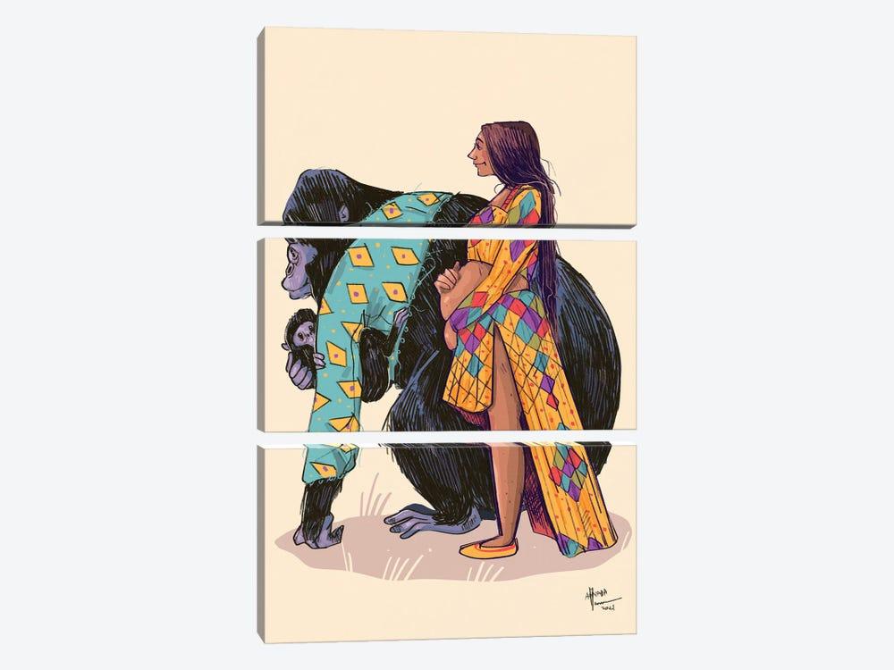 Mammas Are Lovely by Annada N. Menon 3-piece Canvas Print