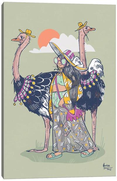 Get Your Suncaps On Canvas Art Print
