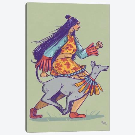 Slender Greyhound Canvas Print #AAN56} by Annada N. Menon Canvas Wall Art