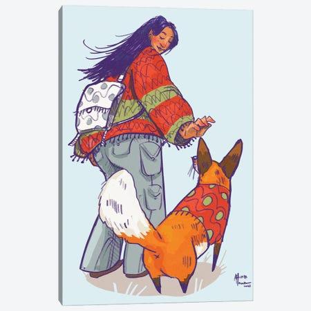 Hey Fox! Canvas Print #AAN57} by Annada N. Menon Canvas Wall Art