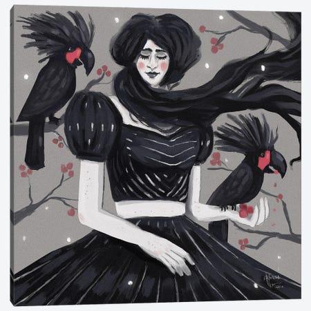 Magnificent Black Palm Cockatoos Canvas Print #AAN58} by Annada N. Menon Canvas Print