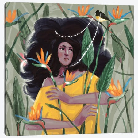 Birds Of Paradise Canvas Print #AAN5} by Annada N. Menon Canvas Wall Art