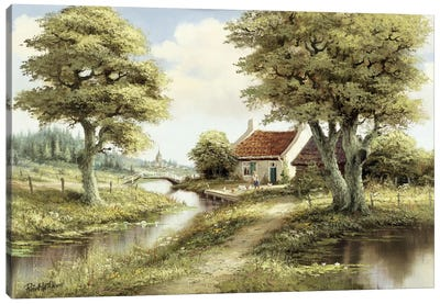 Dutch Country Scene III Canvas Art Print