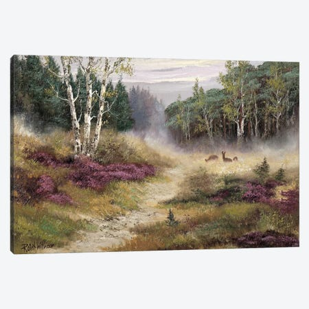 Watching The Deer Canvas Print #AAR8} by Reint Withaar Canvas Artwork