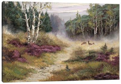 Watching The Deer Canvas Art Print