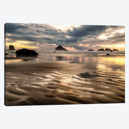 Pacific Low Tide Canvas Print #AAS12} by Andy Amos Canvas Artwork