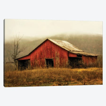 Skylight Barn in the Fog Canvas Print #AAS15} by Andy Amos Canvas Art Print