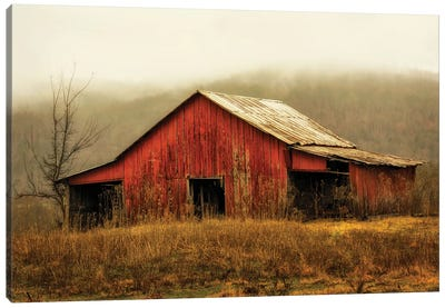 Skylight Barn in the Fog Canvas Art Print