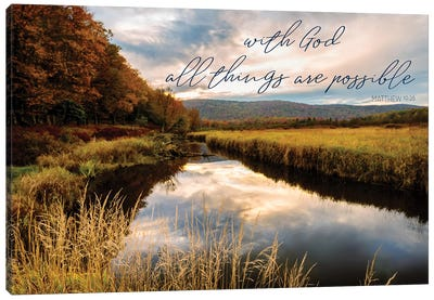 All With God Canvas Art Print