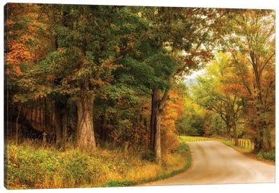Autumn's First Day Canvas Art Print