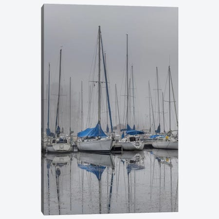 Sailing Boats Canvas Print #AAS32} by Andy Amos Canvas Art
