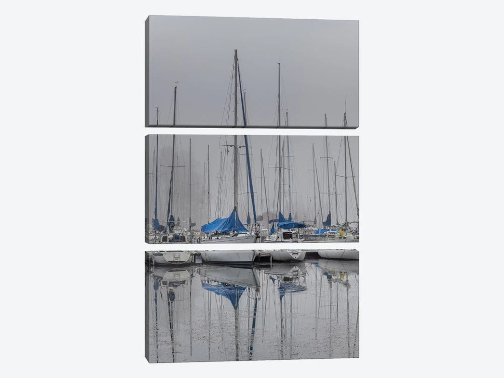 Sailing Boats by Andy Amos 3-piece Canvas Wall Art